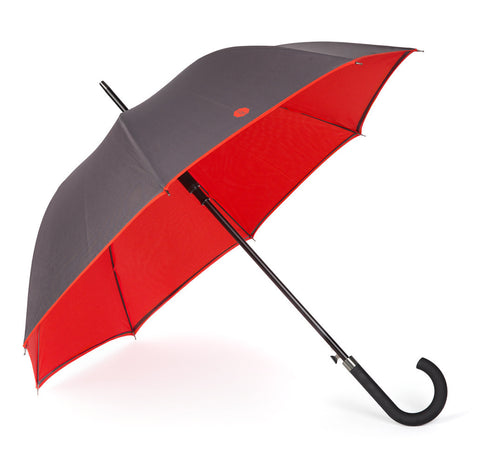 Charcoal & Red Walker Umbrella
