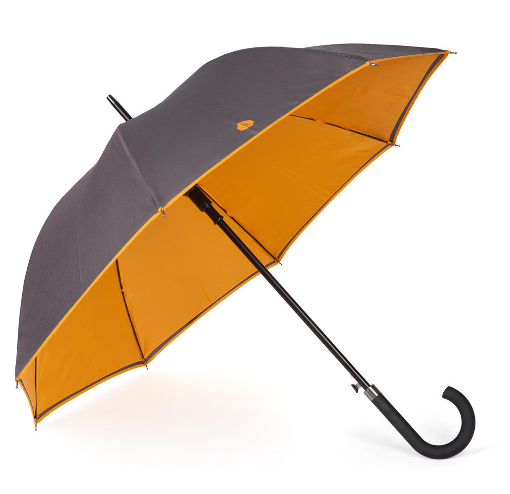 Charcoal & Burnt Orange Walker Umbrella - Banvard & James