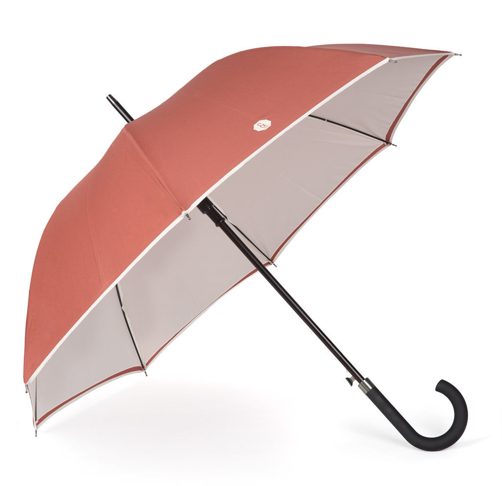 Brown & Cream Walker Umbrella - Banvard & James