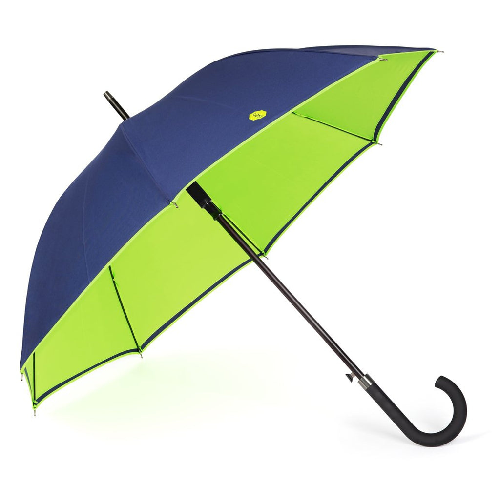 Navy & Lime Walker Umbrella