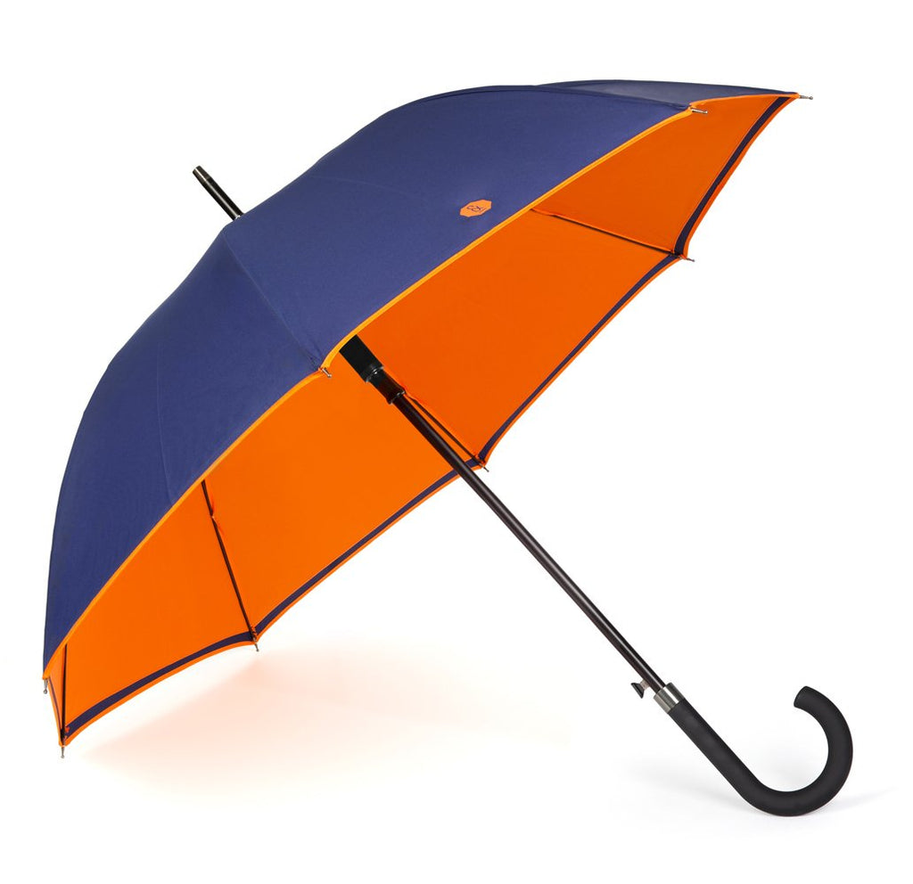 NEW Navy & Orange Walker Umbrella