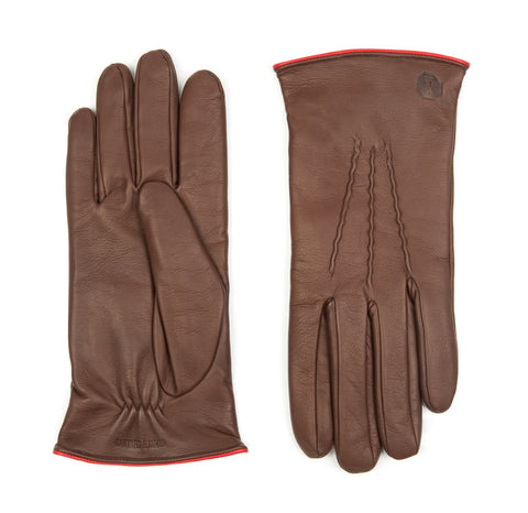 Chocolate Morton Leather Gloves