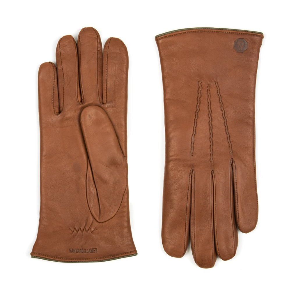 Tan Morton Leather Gloves