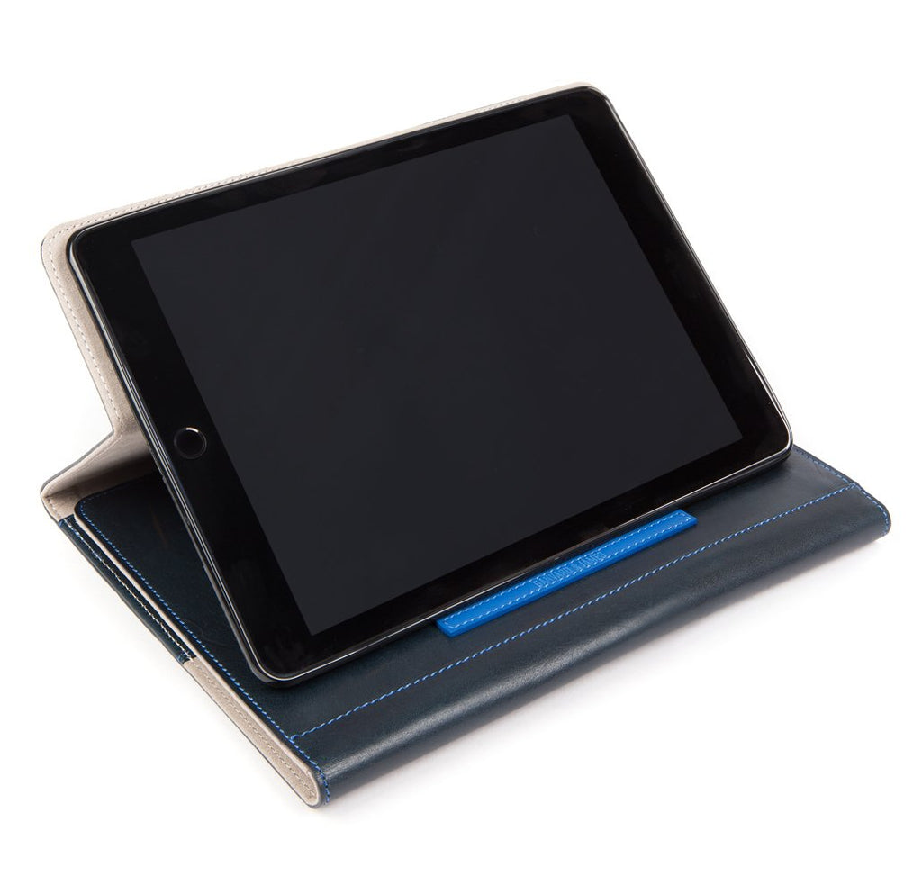 Navy Leather Chadwick iPad Organiser