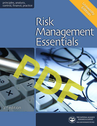 University of North Texas RMIN 4600 - Risk Management Essentials
