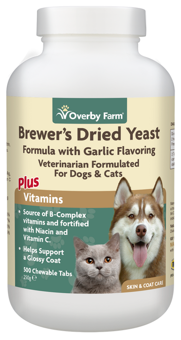 Brewers Dried Yeast with Garlic Chewable Tablets for Cats & Dogs 500pcs