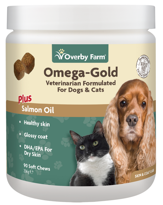Omega Gold Salmon Oil for Cats & Dogs Soft Chew 90pcs