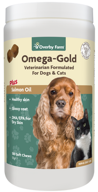 Omega Gold Salmon Oil for Cats & Dogs Soft Chew 180pcs