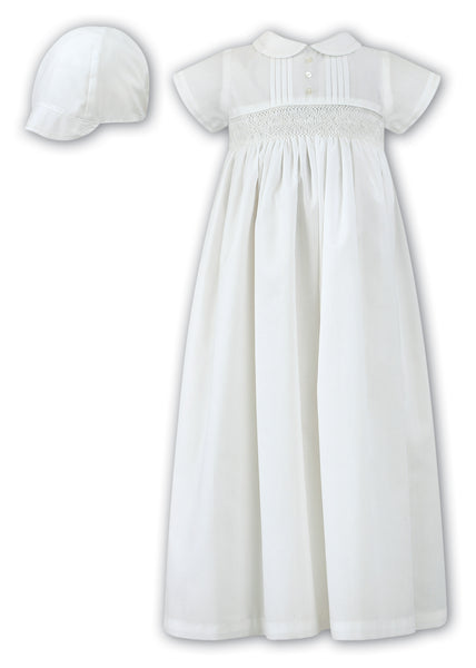 Smocked Christening Gown and Hat