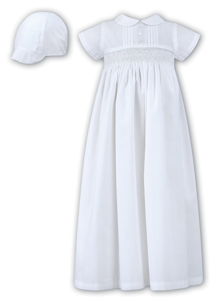Sarah Louise - Smocked Christening Gown and Hat – The Velveteen Rabbit