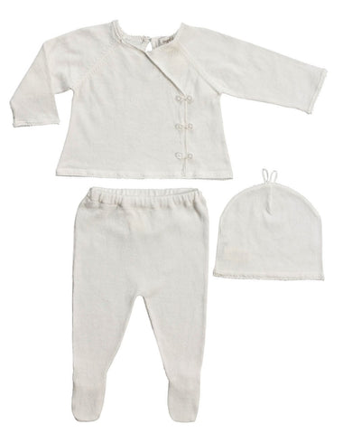 Girls Ivory Kimono Style Take-Me-Home 3pc set