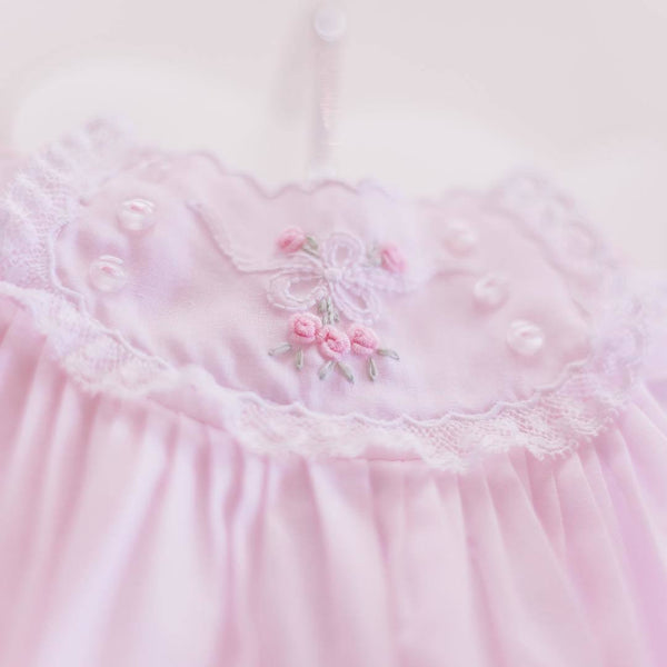 Baby Girls Pink Vintage Bow Collection Bubble