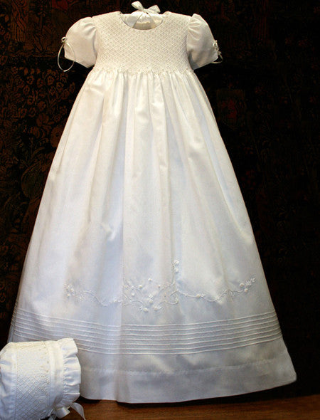 Pearls Silk Christening Gown