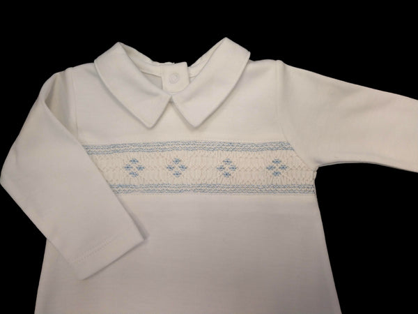 Baby Boys Smocked Footie Longall