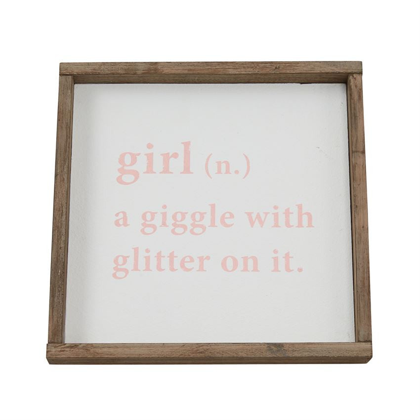 Girl Definition Plaque