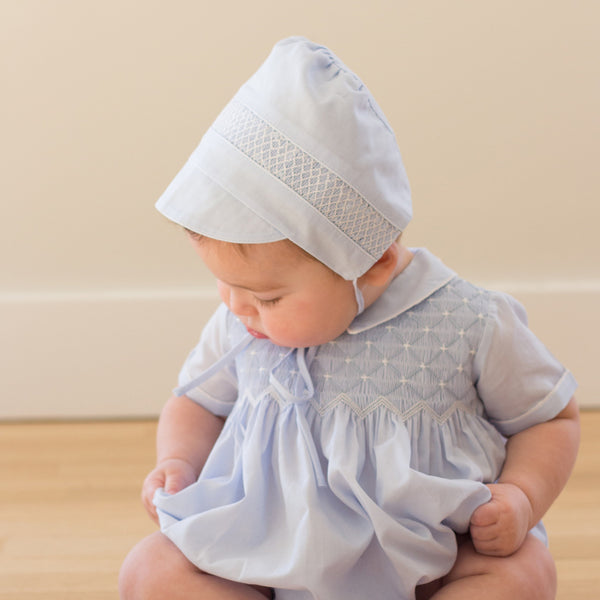 Boys Smocked Bonnet/Hat