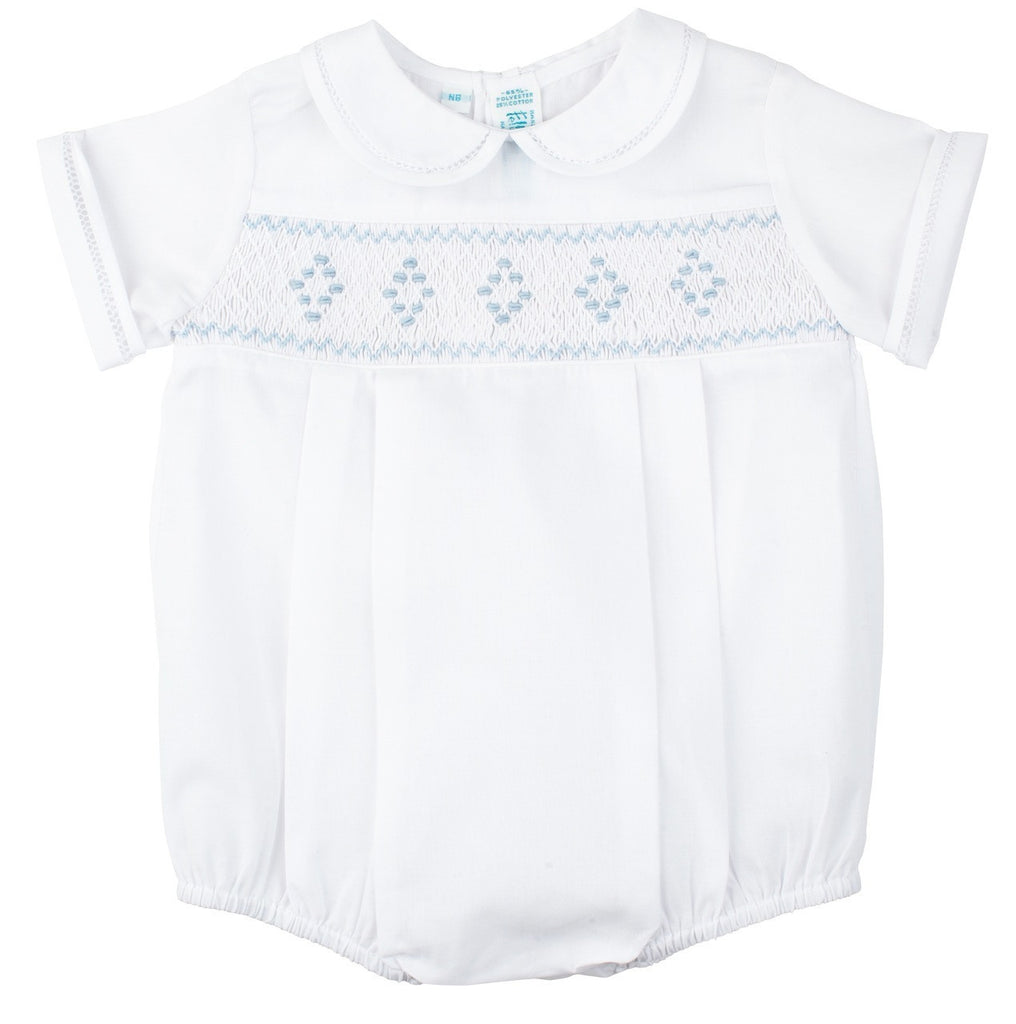 Feltman Brothers - Boys Newborn Smocked Bubble – The Velveteen Rabbit