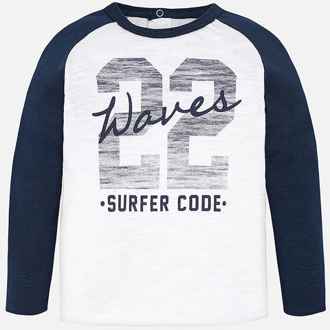 Baby Boy Surfer Print Long Sleeve T-Shirt