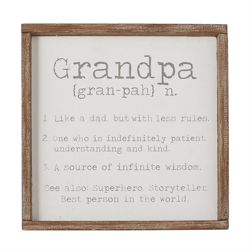 Grandpa Definition Plaque