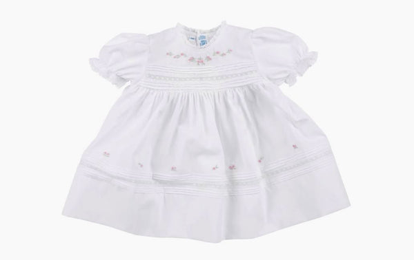 Newborn Baby Girls Floral Bullions Dress
