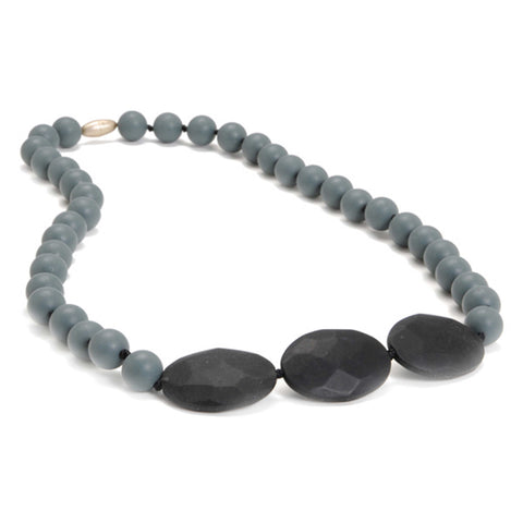 Teething Necklace - Greenwich Grey