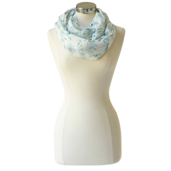 Nursing Happens Sweet Dreamcatcher Nursing Scarf in Blue