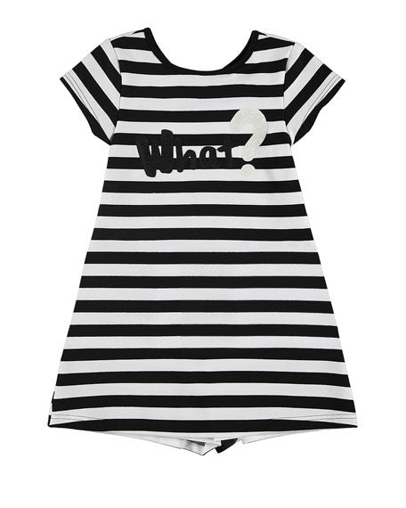 Black/White Stripe Jersey Dress
