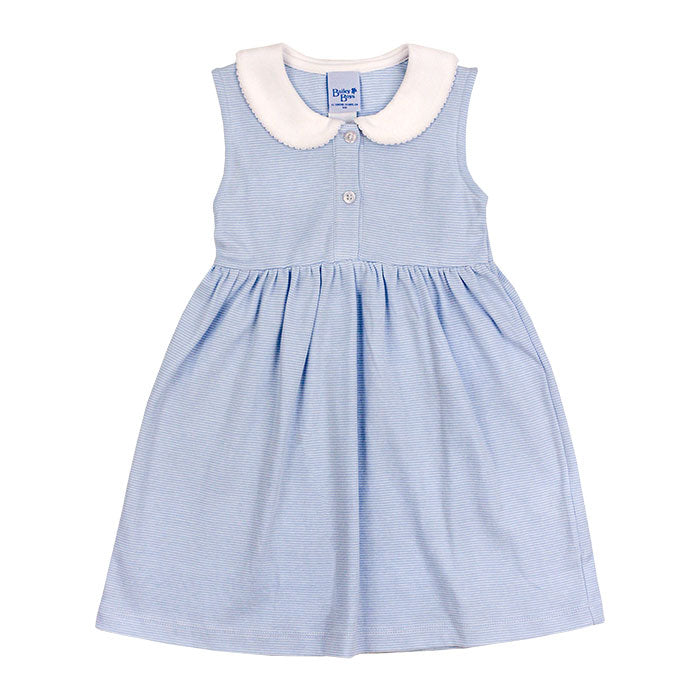 Girls Light Blue Stripe Sundress