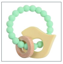 Baby Bird Brooklyn Teether - Mint