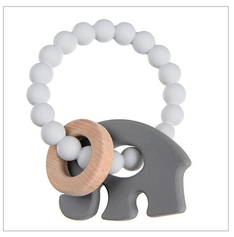 Baby Elephant Brooklyn Teether - Grey