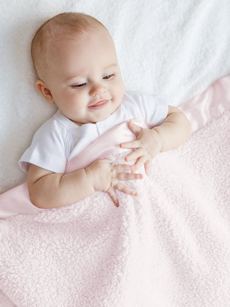 Pink Chenille Baby Blanket