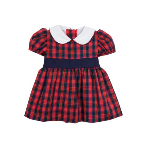 Cindy Lou Sash Dress - Pelham Manor Plaid