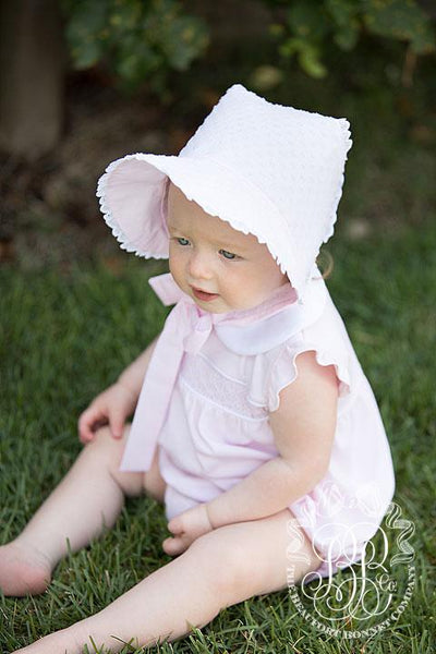 Catesby Country Club Bonnet Plantation Pink Dixie Dot with Plantation Pink