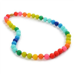 Chewbeads Teething Necklace - Christopher - Rainbow