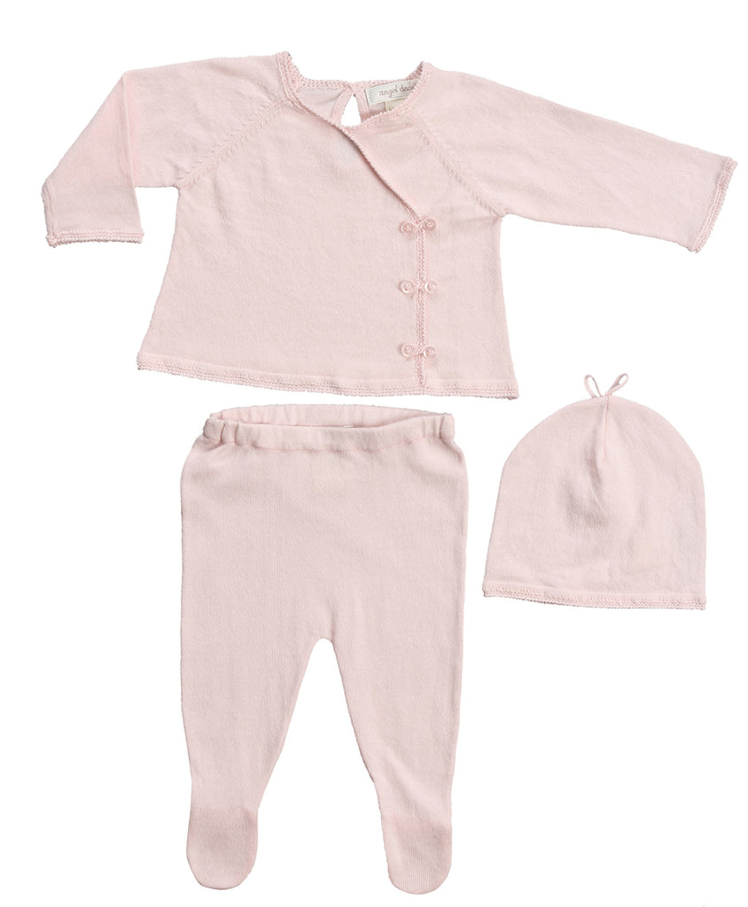 Girls Pink Kimono Style Take-Me-Home 3pc set