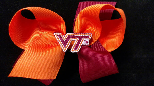 Virginia Tech Hair Bow