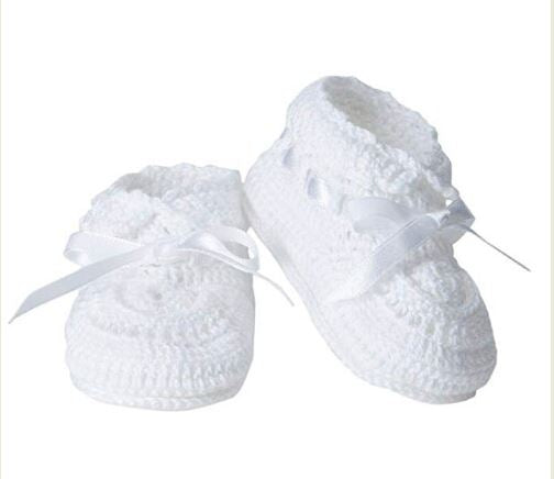 Hand Crochet Booties - White