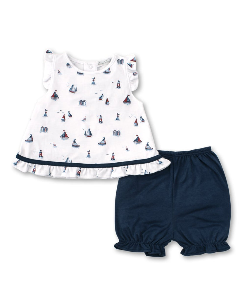Baby Girls Seaside Surprise Nautical Sunsuit