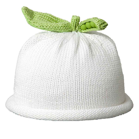 Sweet Pea Knit Hat - White