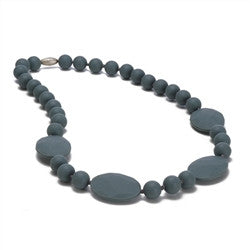 Chewbeads Teething Necklace - Perry Stormy Grey