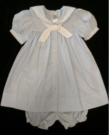 Girl's Blue Sailor Dress