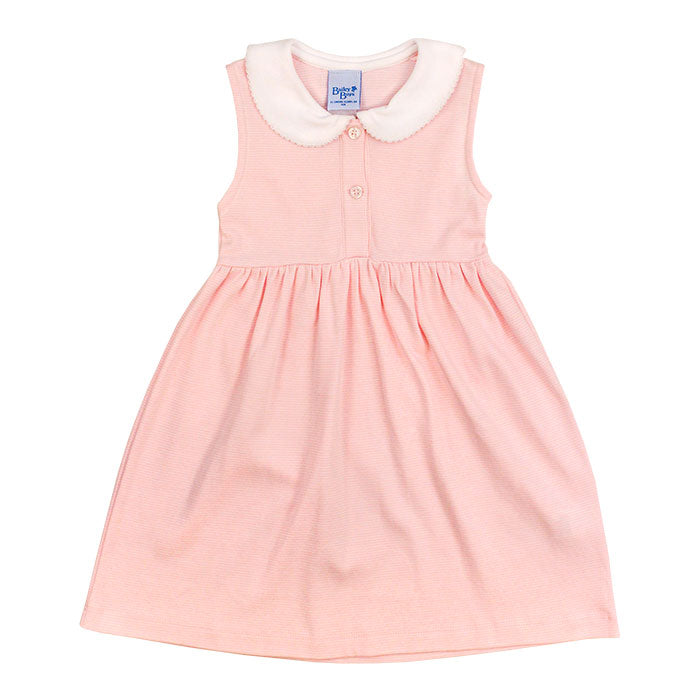 Toddler Girls Pink Stripe-Sundress