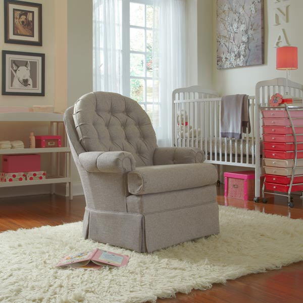 Best Chairs Reese Tufted Swivel Glider
