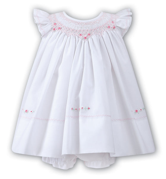 Baby Girls Smocked Angel Sleeve Dress