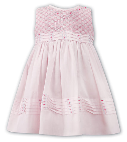 Pink Smocked Sleeveless Dress