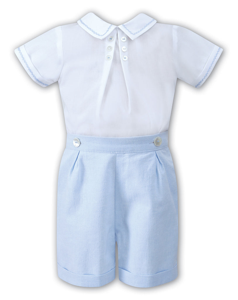 Boys 2pc Dressy Button-On Shortset