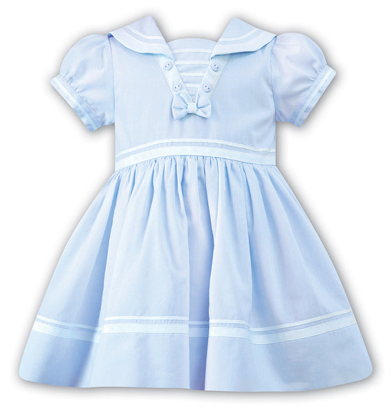 Girls Light Blue Nautical Dress
