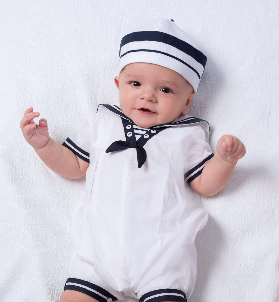 Baby Boys Nautical Romper Knee Bubble