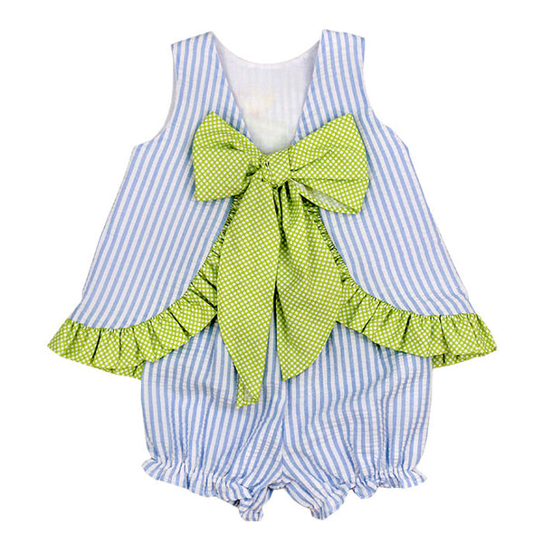 Baby Girls Springtime Friends-Angel Dress Tieback with Bloomer