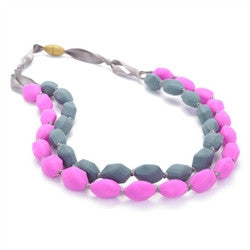 Teething Necklace - Astor Fuchsia